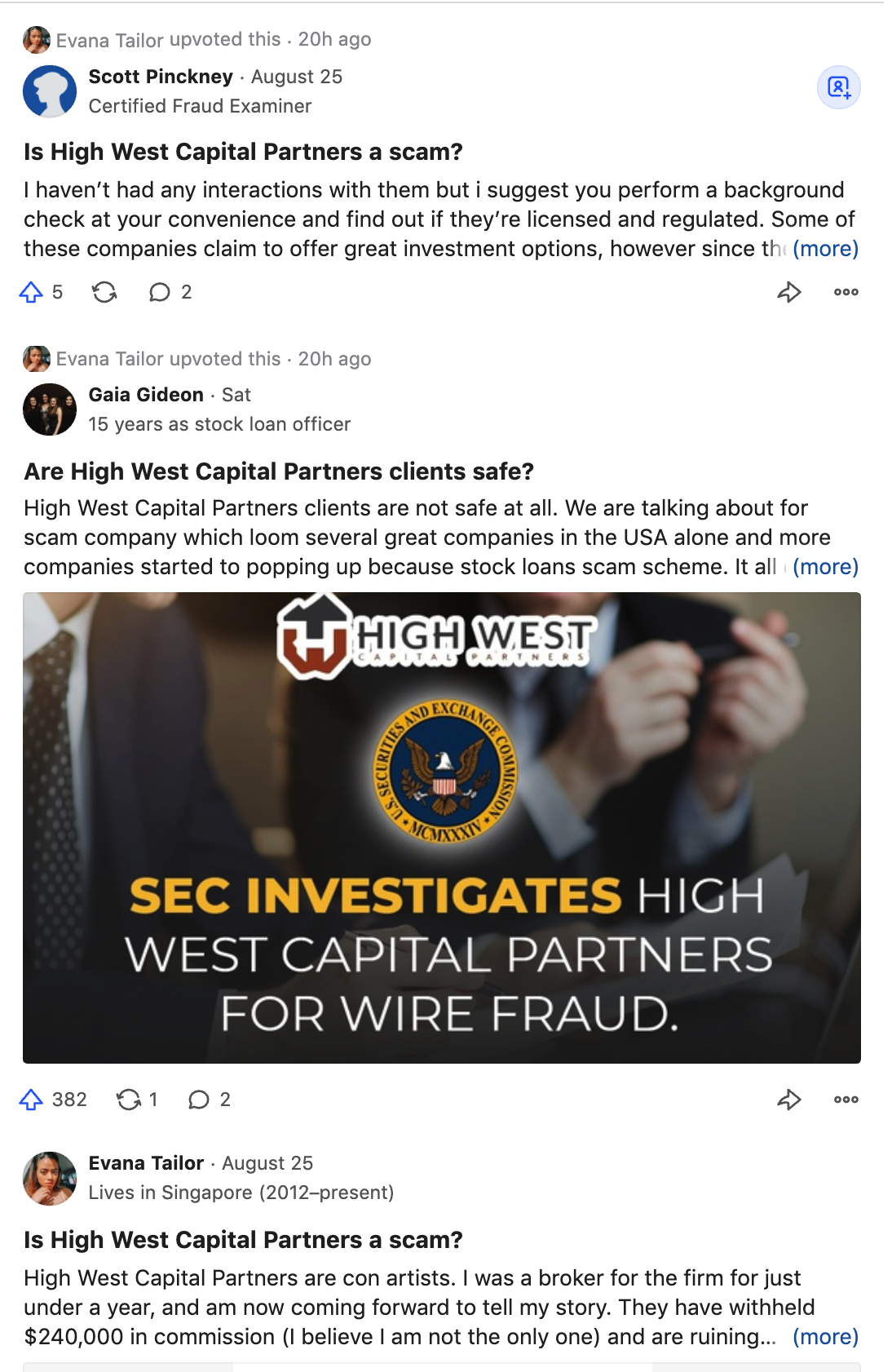 High West Capital Partners Fraud Lawsuit Scam - High West Capital Partners